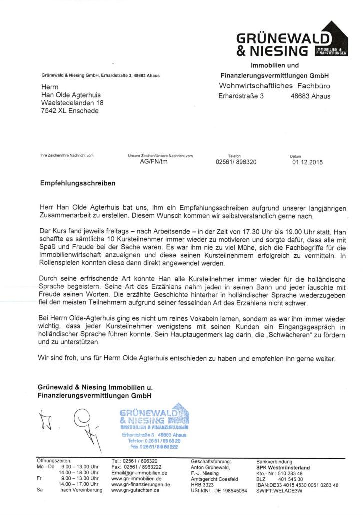 Referenzen – Niederländisch für Unternehmen